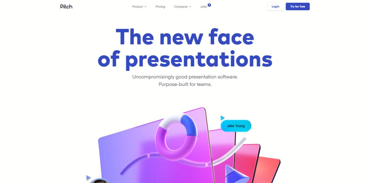 Exemple de site web avec effets 3D