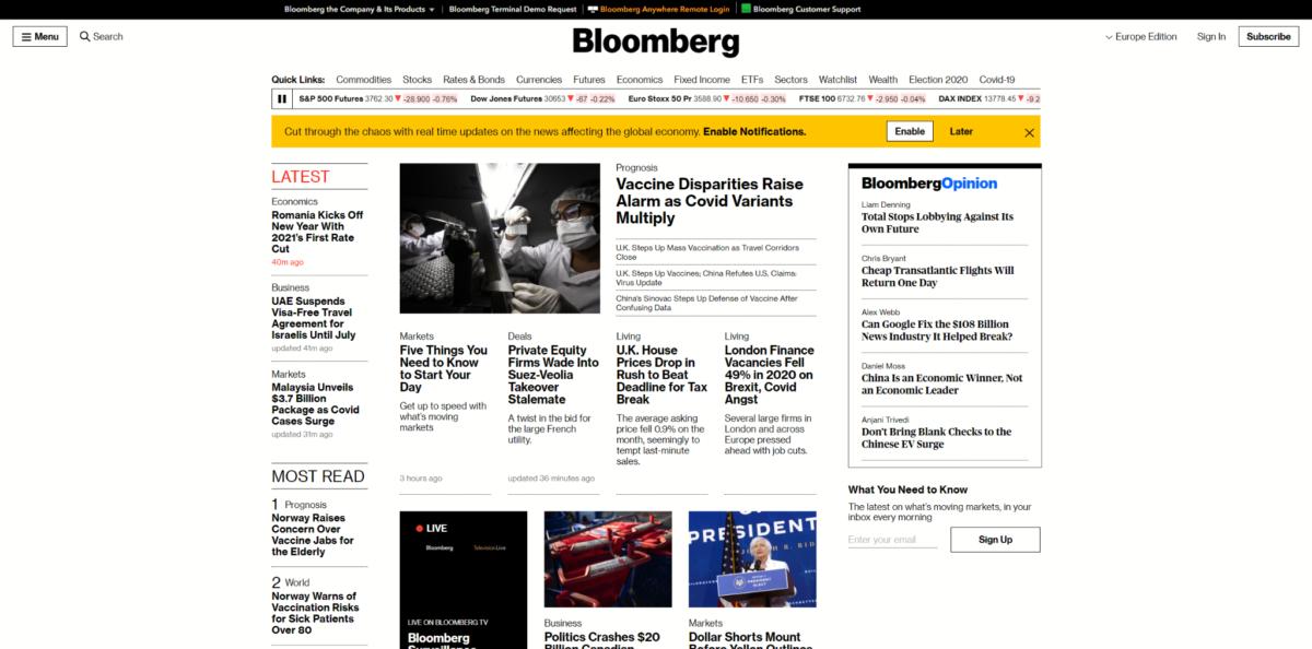 Exemple de site web avec un design brutaliste